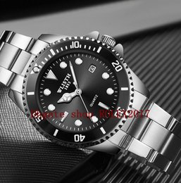 Discount water calendar WLISTH Luxury Calendar green black water ghost waterproof men strong luminous steel belt quartz