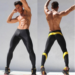 Wholesale elastic mens leggings for sale - Group buy Mens Workout Fitness Elastic Breathable Leggings Pants Bottom Crossfit Weight Lifting Bodybuilding Skin Tights Trousers M XXL