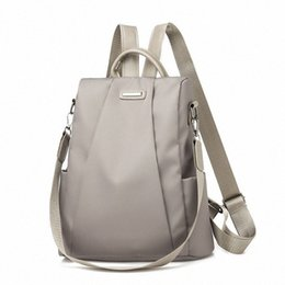 2020 Hot Womens Backpack Casual Nylon Solid Color School Bag Fashion Detachable Shoulder Strap Shoulder Bag 84CU#