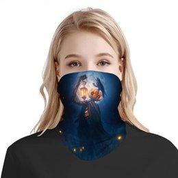 Wholesale crew scarf for sale – custom 3D Seamless Balaclava Magic Scarf Outdoor Sports Bandanas Cycling Mask Neck Gaite Halloween night ghost crow Pumpkin lantern