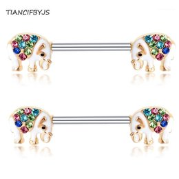 TIANCIFBYJS Nipple Barbell Piercing Earring Carlitage 14G Stainless Steel Wholesale Body Jewelry Crystal Nipple Rings Bars 20pcs1 on Sale