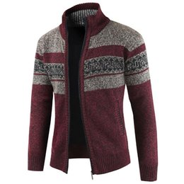 Wholesale mens vintage wool coat for sale - Group buy Plus Size XXXL Mens Sweater Vintage Designer Knitted Sweatercoat Men European Style Man Sweaters Coat Pattern Cardigan Wool A384