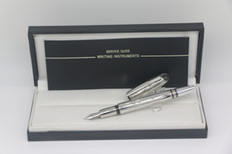 High quality Classi Metal silver grid body Fountain pen with series number school&office stationery writing pen on Sale