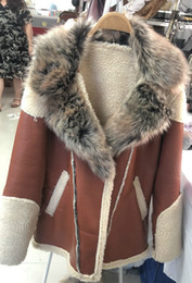 Wholesale mens fur lined leather jackets resale online - Mens Basic Coats and Basic Jackets Winter Sheepskin Coats Men Thicken Faux Leather Fur Coat Male Fur Lining Leather Basic Jacket