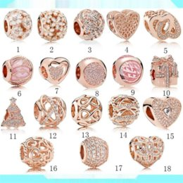 diy bracelets materials UK - QJQp8 Guanghe Panjia women's Sterling Silver S925 DIY Beaded string decorated with rose gold mixed Diy bracelet Beaded bracelet material ser