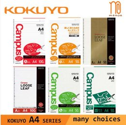 Discount japanese notebooks TUNACOCO A4 Japanese KOKUYO Campus Spiral Filler Paper Daily Memos Loose Leaf Notebook Substitution Paper 1710141