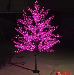 led cherry lights UK - 1 .5m 1 .8m 2m 3m Shiny Led Cherry Blossom Christmas Tree Lighting Waterproof Garden Landscape Decoration Lamp For Wedding Party Decor Llfa