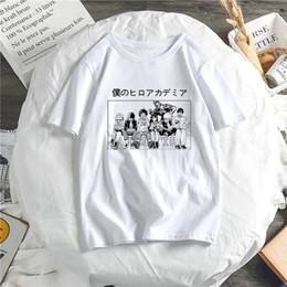 Wholesale cartoon hero costumes online – ideas boku no hero academy cute cartoon female t shirt my hero academy school costume harajuku japanese anime female top tee