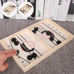 Atacado-Foosball Jogos Super Winner Sling Puck Jogo Fun Brinquedos jogo de tabuleiro batalha de mesa mesa 2 em 1 gelo jogo de hóquei Brinquedos Para Adulto Criança em Promoção