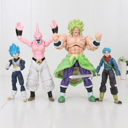 Discount buu model 14-20cm Super Trunks Broly Buu Hercule Mark Action Figure Figurines Model Toys X0121