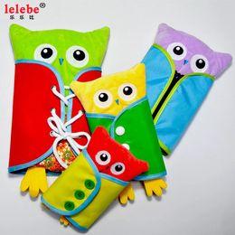 Popular creative and interesting toys exercise children's finger flexibility children's animal shape owl plush clothing toys educational bab