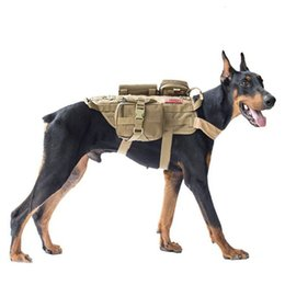 Wholesale free military clothing resale online – Vest Tactical Military Dog Harness Set with Pouch Molle Pet Clothing Jacket Adjustable Nylon Large Dog Patrol Equipment