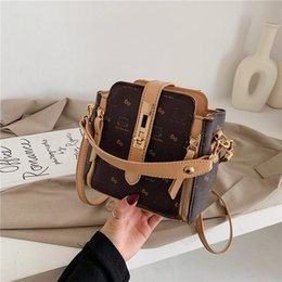 cat cell phone covers 2021 - Summer New PU Leather Handbag For Women Cat Animal Bow-Knot 4 Style Bucket Bag Square Messenger Shoulder Bag Female luxu