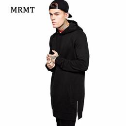 Wholesale summer hoodies for men for sale – custom 2020 Streetwear Men s Long Black Hoodies Sweatshirts Feece extra long Hoody Side Zip Longline Hip Hop elongated for men Hoodie
