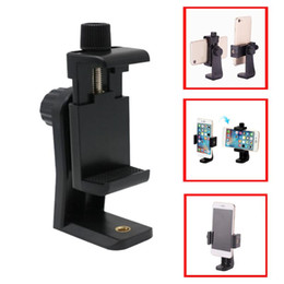 cell phone tripod adapter UK - Universal Tripod Mount Adapter Cell Phone Clipper Holder Vertical 360 Rotation Tripod Stand for for Samsung