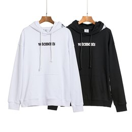 2020 Automne hiver Vetements Priority Express Logo Broderie Sweat à capuche Casual Porter Capuche Sweathirt Hommes Femmes Coton Sweat à capuche