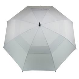Golf Paraplu voor Mannen Automatische Open Winddicht Paraplu's Extra grote Oversize Dubbele Canopy Geverifed Waterdichte Stick 62 Inch Grijs