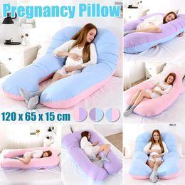 Fonksiyonlu Hamile Kadınlar Vücut% 100 Pamuk U Masa Annelik Yastıklar Gebelik Yan Sleepers için Destek Yastığı Sleeping