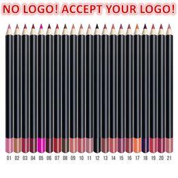 21color 3in1 Matte Lip Pencil eyeliner eyebrow pencils Waterproof Natural Lipliner Pen Accept customized logo on Sale
