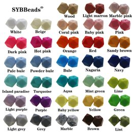 New Diy 11MM mini hexagon Loose beads 100pcs Food grade Non Toxic Bpa Free Teething Necklace 11Mm Silicone Beads Kit 201020 on Sale