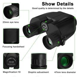 Nueva 10X25 prismáticos HD All-óptico del doble película verde telescopio binoculares a prueba de agua para mazos de reloj de viaje de caza de aves Trekking Deportes en venta