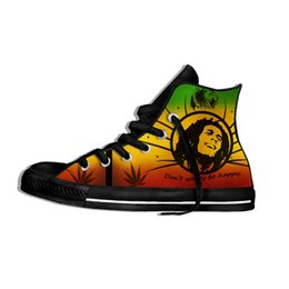 Wholesale bobs shoes for sale - Group buy Legend Bob Marley Reggae music Novelty Design Lightweight High Top Canvas Shoes Men Women Casual Breathable Sneakers LJ201130