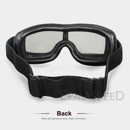 Wholesale racer cycle online – design Unisex Motorcycle Goggles Cafe Racer Motocross Adjustable Sunglasses Multi Color Outdoor Sport Riding Cycling Hiking Glasses jllDIt
