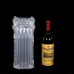 Großhandel 32 * 8 cm luftdunnage tasche luftgefüllte schütze weinflasche wrap aufblasbare luftkissensäulenpacktaschen mit freier pumpe