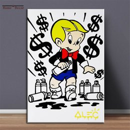 abstract art paintings for kids 2021 - SMALL KID Alec Monopoly Art Paintings For Wall Decor Home Decoration Oil Paintings On Canvas Wall Art Pictures 201009 di