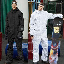New Ski Suit Jumpsuit Men Snowboard Jacket Winter Mountain Ski Jacket+Pants Waterproof Warm Snow Snowboard Jacket Brands 201203 on Sale