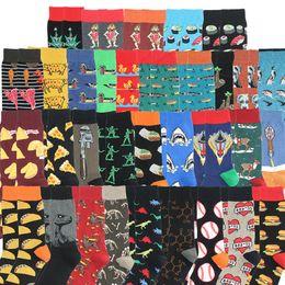 Wholesale new men style socks for sale – custom New Design Casual Socks Harajuku Style Sock Funny Cartoon Flamingo Penguin Duck Pattern Animal Happy Socks Men DHC2906