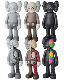 Hot Sell 16inches KAWS Original Fake Dissected Companion Action Figure Doll model Decorations For Kids toys gift Free Shipping on Sale