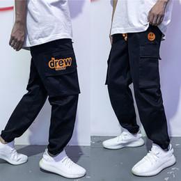 Wholesale pant men resale online – Justin Bieber Drew House Mens Stylist Track Pant Casual Style Mens Joggers Pants Track Pants Cargo Pant Trousers Elastic Waist Men