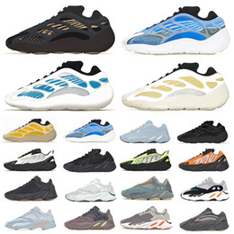 Wholesale Clay Brown 700 v3 kanye west mens running shoes Azareth Kyanite Safflower Wave Runner Mauve Vanta 700s men women trainers sports sneakers