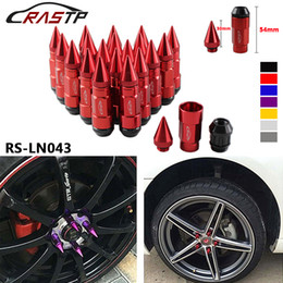 RASTP -Multi Function Anti Theft Racing Car Tires Spike Lug Nuts,JDM Sytle Anodized Universal Wheel Lug Nuts M12*1.5mm RS-LN043 on Sale