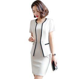 Wholesale formal jackets for women dresses resale online - Female Formal Blazer Women Dresses with Jacket Women s Dress Suit Set Office Wear Work for Ladies Evening Elegant Costume