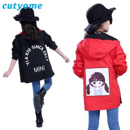 Wholesale cute bomber jackets resale online – Cutyome Spring Autumn Windbreaker for Girls Toddlers Kids Both Sides Wear Long Style Letters Bomber Jackets Teenagers Coats C1021
