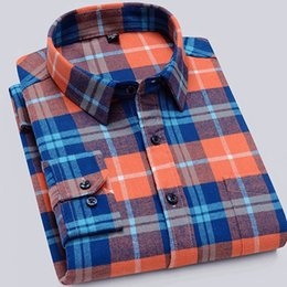 Wholesale flannel shirts for men for sale - Group buy 100 Cotton Flannel Men Plaid Long Sleeve Shirt s Men s Casual Long Sleeve Shirt Soft and Comfortable shirts for men
