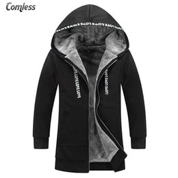 Wholesale sections sweatshirt hoodies for sale – custom New Winter Hoodies Men Thicken Plus Velvet Long Section Outwear Fashion Design Men s Warm Sweatshirts Clothing Big Size xl