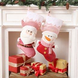 Wholesale old man socks for sale – custom wCYSo Old grade Snowman stocking high Christmas socks Christmas socks decoration pendant candy gift bag Pendant man Decoration children s gif