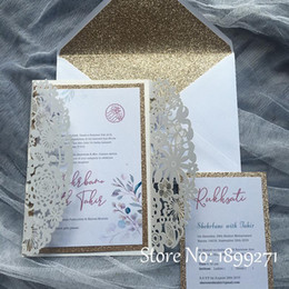 happy birthday laser cut paper NZ - Flower butterfly design laser cutting wedding invitation cards Custom Print Paper quilling happy birthday greeting cards