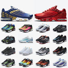 Wholesale 2020 Fashion Tn Plus 3 Womens Mens Running Shoes NIK Tuned Tn 3 Deep Royal Red Air