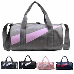 wholesale gym mats 2021 - Outdoor Travel Bag Waterproof Canvas Sports Gym Bags Men Women Training Fitness Travel Handbag Yoga Mat Sport Bag With S