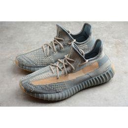 Wholesale shoes resale online - Mens Kanye West Israfil V2 Sneakers Antlia Abez Carbon M Reflective Zebra Turle Dove Clay Marsh Cream Static Cinder Zyon Running Shoes