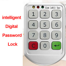 electronics cabinets Canada - 2020 Intelligent Digital Password Lock Electronic Door Lock Keypad for Cabinet Door Intelligent Drawer Safer