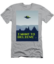 Meu I Want To Believe T-shirt Minimal Poster