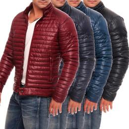 Wholesale packable down jacket resale online – Men s Winter Warm Ultra Lightweight Packable Down Jacket Long Sleeve Stand Collar Coat Large Size Men Solid Color Winter Jackets