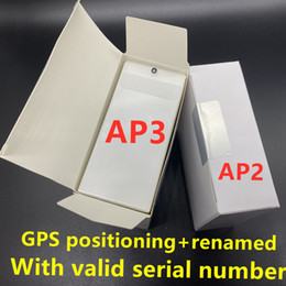 3pcs DHL UPS Free H1 chip earphones Gps Rename Air Ap3 pro Ap2 Tws Gen 2 Pods pop up window Bluetooth Headphone auto paring wireless Charge on Sale