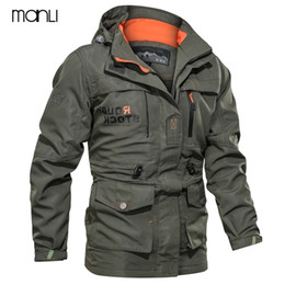 Wholesale m65 military jackets resale online - New Spring Autumn Men Tactical Jacket US Army M65 Military Field Jacket Trench Coats Hoodie Casaco Masculino Windbreaker