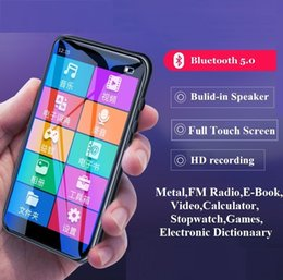Mahdi Player Bluetooth 5.0 Touch Screen music player With Speaker Support FM Radio E-book Stopwatc Video LJ201016 on Sale